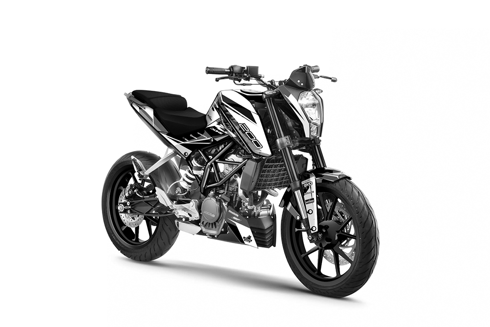 KTM Duke 200 - 2011-2016 - Backyard Design Supermoto Dekor Kit - Flash pro