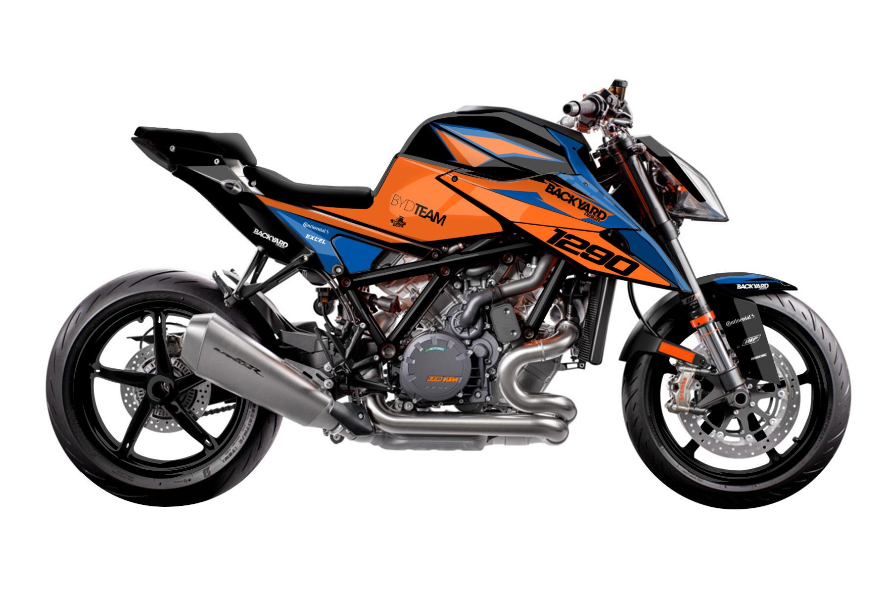 Street Dekor KTM 1290 Super Duke R Flash Basic Dekor Grunddesigns von Backyard Design