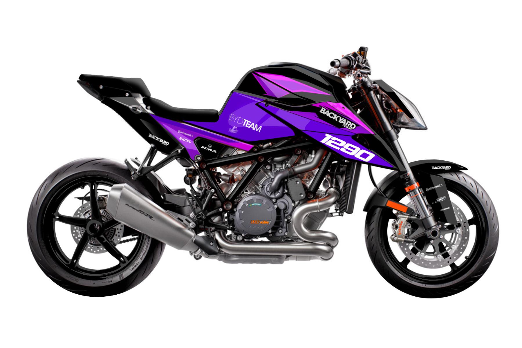 KTM Duke 1290 - 2020-2022 - Backyard Design Supermoto Dekor Kit - General Pro