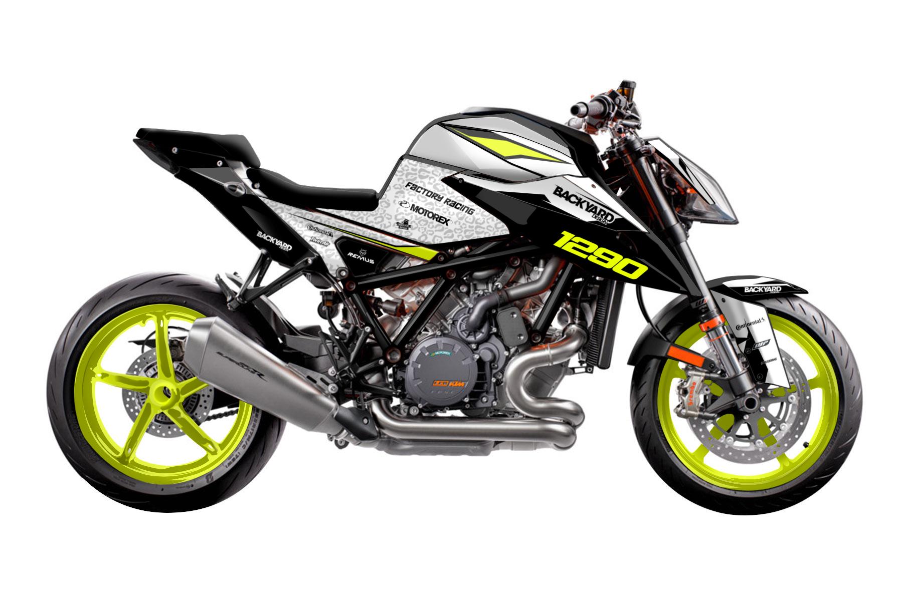 Pattern Neon - Eines von vielen KTM 1290 Super Duke R Supermoto Dekor Grunddesigns von Backyard Design