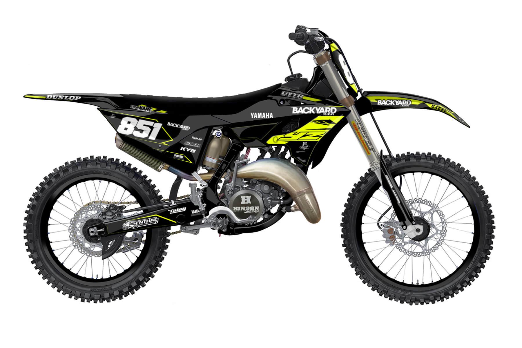 Yamaha YZ 250 - 2022 - Backyard Design - Mx Dekor - Division Neon