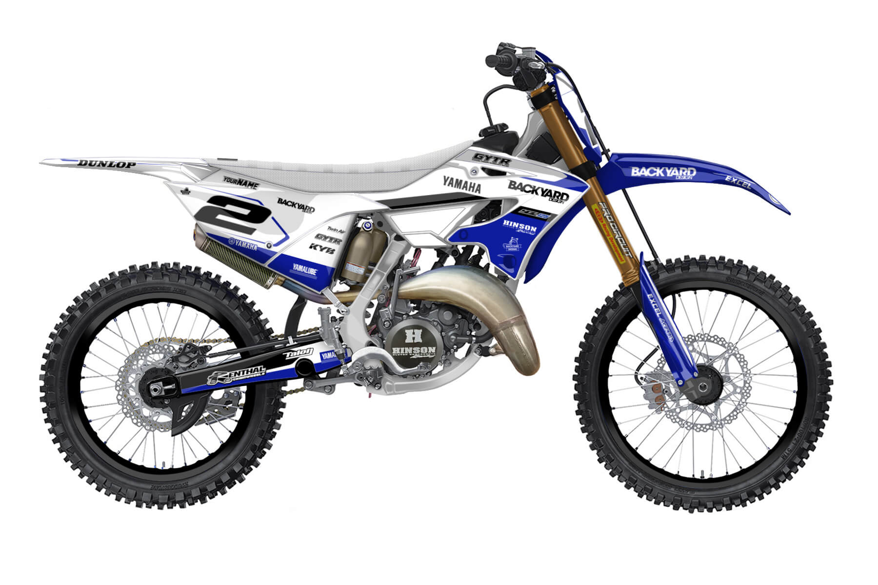 Yamaha YZ 250 - 2022 - Backyard Design - Mx Dekor - General Pro