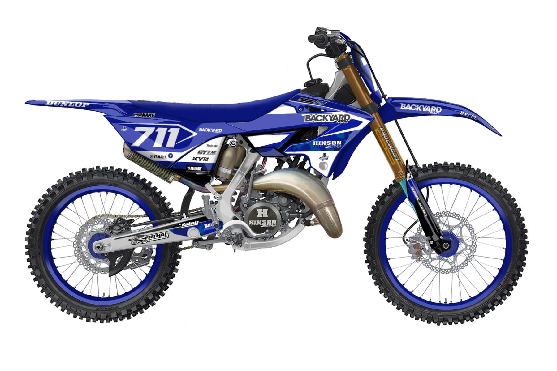 Yamaha YZ 250 - 2022 - Backyard Design - Mx Dekor - Pattern Basic