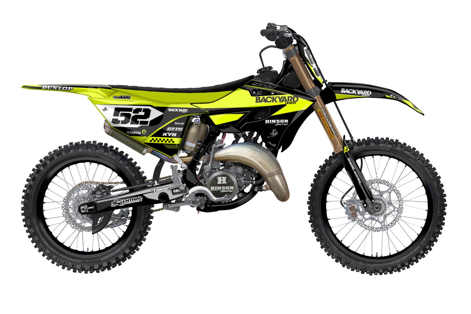 Yamaha YZ 250 - 2022 - Backyard Design - Mx Dekor - Staple Neon
